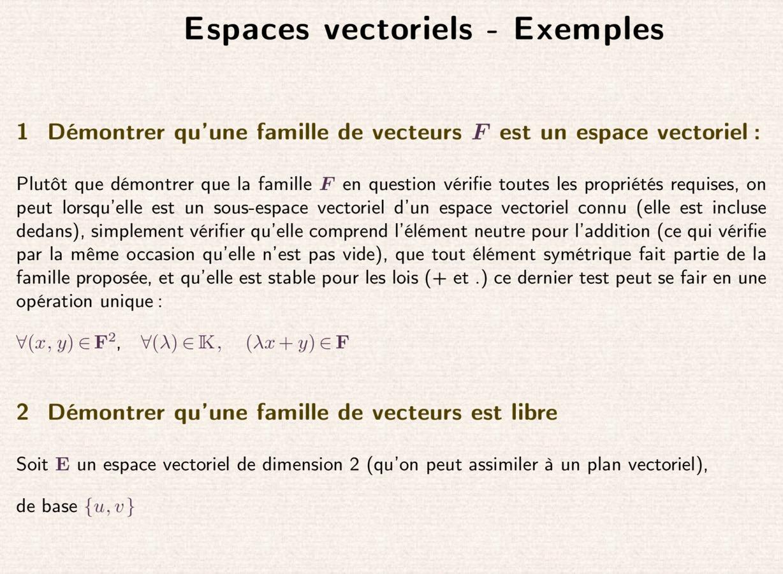 Espaces vectoriels - math.unice.fr